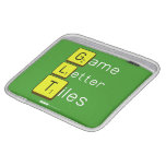 Game Letter Tiles  iPad Sleeves