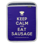 [Chef hat] keep calm and eat sausage  iPad Sleeves