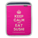 [Crown] keep calm and eat sushi  iPad Sleeves