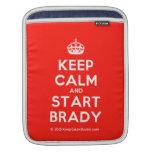 [Crown] keep calm and start brady  iPad Sleeves