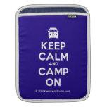 [Campervan] keep calm and camp on  iPad Sleeves