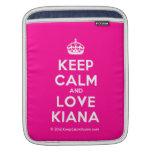 [Crown] keep calm and love kiana  iPad Sleeves