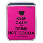 [Cup] keep calm and drink hot cocoa  iPad Sleeves