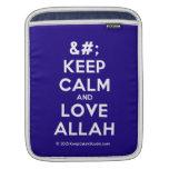 [No Crown] keep calm and love allah  iPad Sleeves