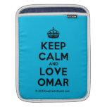 [Crown] keep calm and love omar  iPad Sleeves