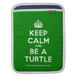 [Crown] keep calm and be a turtle  iPad Sleeves