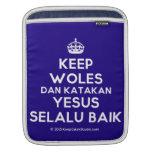 [Crown] keep woles dan katakan yesus selalu baik  iPad Sleeves