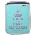 [Cupcake] keep calm and bake cupcakes  iPad Sleeves