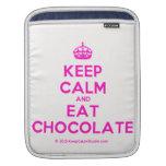 [Crown] keep calm and eat chocolate  iPad Sleeves