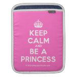 [Crown] keep calm and be a princess  iPad Sleeves