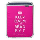 [Crown] keep calm and read p.y.t  iPad Sleeves