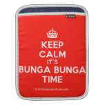 [Crown] keep calm it's bunga bunga time  iPad Sleeves
