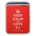 [Crown] keep calm and love pj  iPad Sleeves