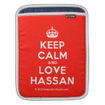 [Crown] keep calm and love hassan  iPad Sleeves