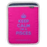[Crown] keep calm i'm a pisces  iPad Sleeves