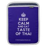 [Crown] keep calm and eat taste of thai  iPad Sleeves