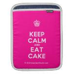 [Cupcake] keep calm and eat cake  iPad Sleeves