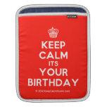 [Cupcake] keep calm its your birthday  iPad Sleeves