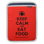 [Cutlery and plate] keep calm and eat food  iPad Sleeves