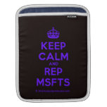 [Crown] keep calm and rep msfts  iPad Sleeves