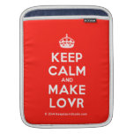 [Crown] keep calm and make lovr  iPad Sleeves