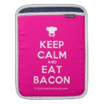 [Chef hat] keep calm and eat bacon  iPad Sleeves