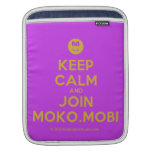 [Smile] keep calm and join moko.mobi  iPad Sleeves