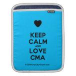 [Love heart] keep calm and love cma  iPad Sleeves