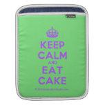 [Crown] keep calm and eat cake  iPad Sleeves