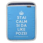 [Crown] stai calm si da like pozei  iPad Sleeves