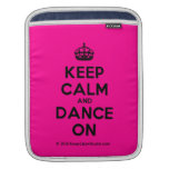 [Crown] keep calm and dance on  iPad Sleeves