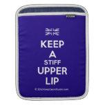 [UK Flag] keep a stiff upper lip  iPad Sleeves