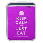[Cutlery and plate] keep calm and just eat  iPad Sleeves