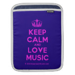 [Dancing crown] keep calm and love music  iPad Sleeves
