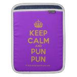 [Crown] keep calm and pun pun  iPad Sleeves