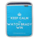 [Crown] keep calm and watch brady win  iPad Sleeves