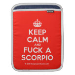 [Crown] keep calm and fuck a scorpio  iPad Sleeves