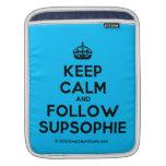 [Crown] keep calm and follow supsophie  iPad Sleeves