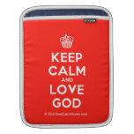 [Cupcake] keep calm and love god  iPad Sleeves