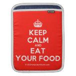 [Crown] keep calm and eat your food  iPad Sleeves