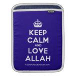 [Crown] keep calm and love allah  iPad Sleeves