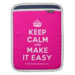 [Crown] keep calm and make it easy  iPad Sleeves