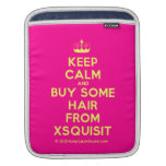 [Knitting crown] keep calm and buy some hair from xsquisit  iPad Sleeves