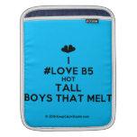 [Two hearts] i #love b5 hot tall boys that melt  iPad Sleeves