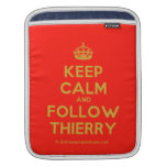 [Crown] keep calm and follow thierry  iPad Sleeves