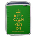 [Knitting crown] keep calm and knit on  iPad Sleeves