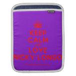 [Crown] keep calm and love nicky longo  iPad Sleeves