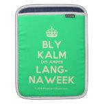 [Crown] bly kalm dis amper lang- naweek  iPad Sleeves
