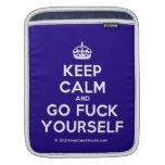 [Crown] keep calm and go fuck yourself  iPad Sleeves