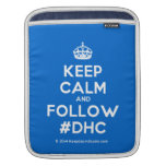 [Crown] keep calm and follow #dhc  iPad Sleeves
